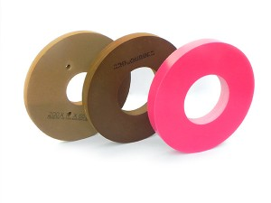 Peripheral polishing wheels